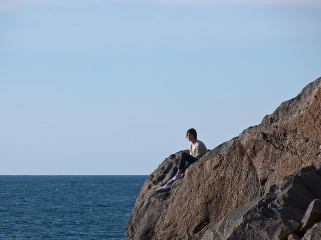 alone watching sea