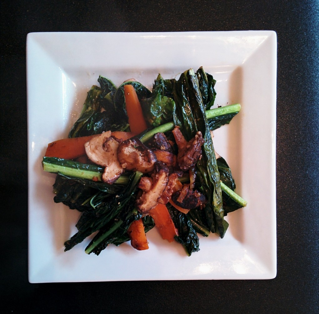 Healthy Kale and Shiitake Mushroom Recipe!