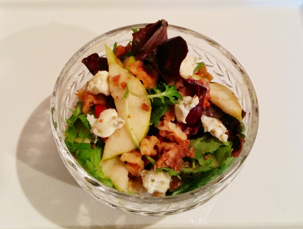 Walnut, Pear, Gorgonzola Salad