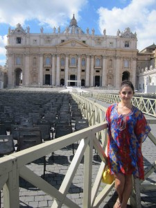 My outfit at the Vatican