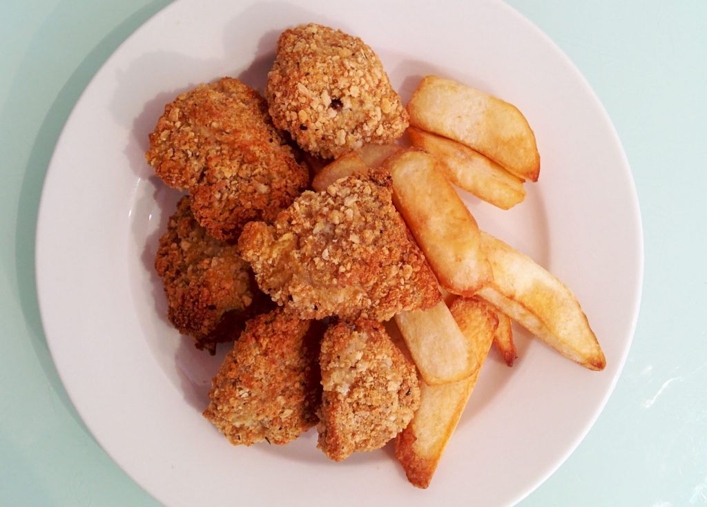 Gluten free, dairy free chicken nuggets