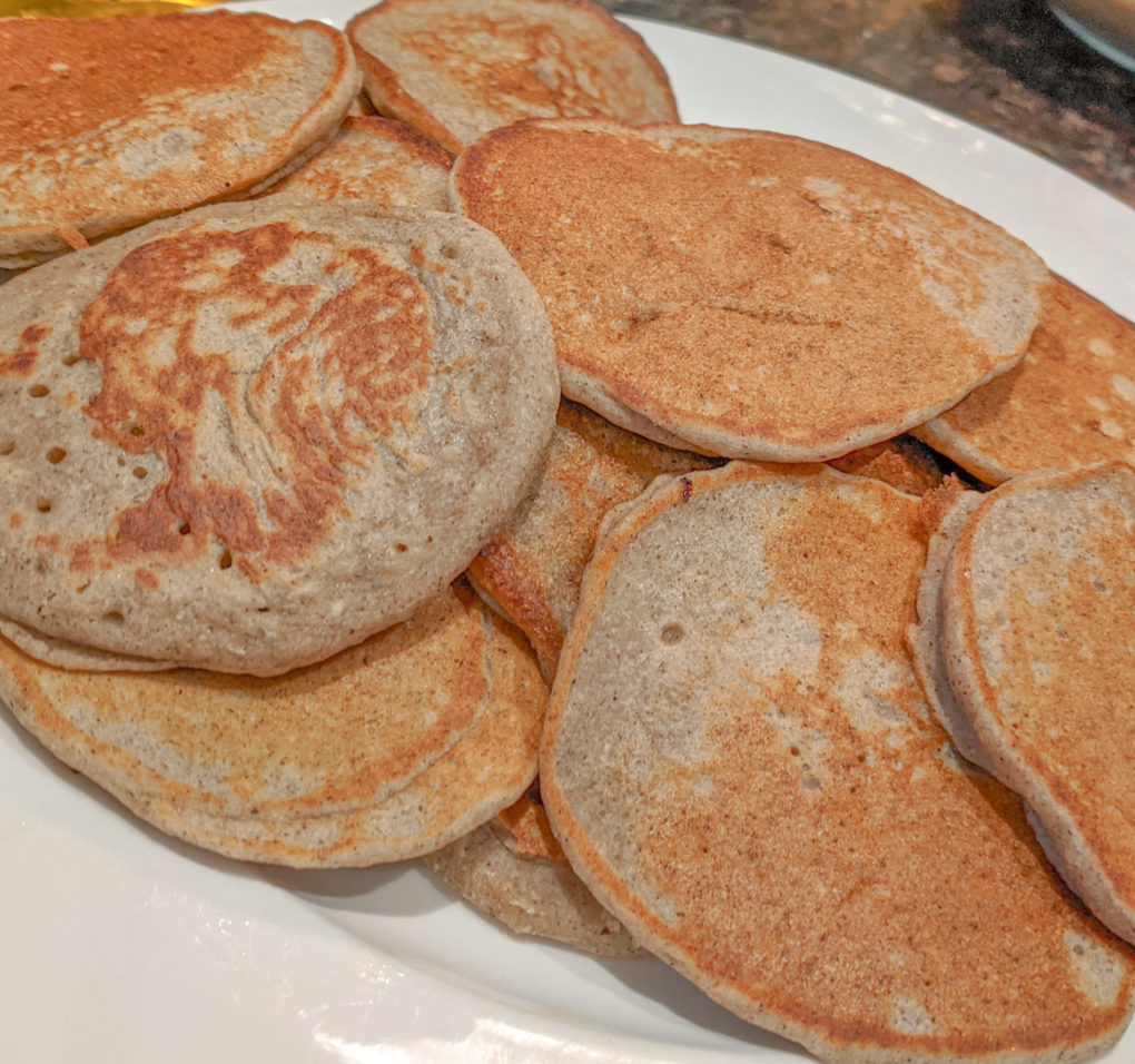 Gluten-free Recipe: Buckwheat Banana Pancakes.